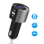 Comsoon Bluetooth FM Transmitter, Bluetooth Receiver MP3 Player Wireless In-Car Stereo Radio Adapter Car Kit Hands Free Calling, Dual USB Ports Quick Charge 5V/2.4A & 1A