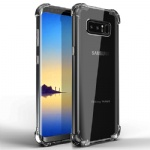 Galaxy Note 8 Case, Comsoon [Crystal Clear] [Shock Absorption] Soft TPU Bumper Slim Protective Case Cover with Raised Bezels & Camera Drop Protection for Samsung Galaxy Note 8 (2017) (Clear)