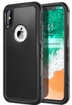 Comsoon iPhone X Case, [Support Wireless Charging]Heavy Duty Protection Shock Absorption [Slim] [Dual Layer] Hybrid Soft TPU Cover & Hard Outer PC Shell Tough Drop Cushion for iPhone X