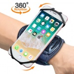 "Sports Wristband, Comsoon 360° Rotatable Forearm Armband Phone Holder for iPhone XS Max/ XR/8 Plus/7, Galaxy Note9/S9 Plus/S9 & Other 4""-6.5"" Smartphone, with Key Holder for Biking Running"